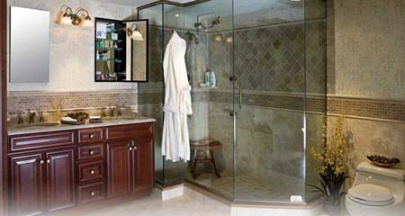 bathroom with shower enclosure